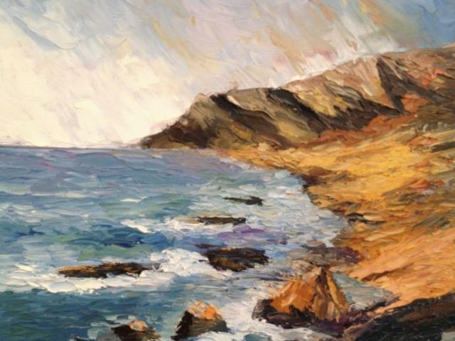 Californian coast - Oil on Canvas