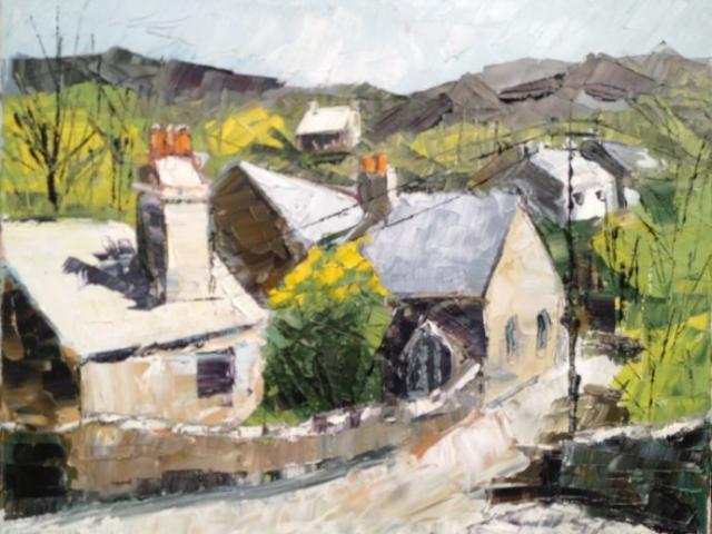 Dolwyddelan Village, Snowdonia - Oil on Canvas - £ 175