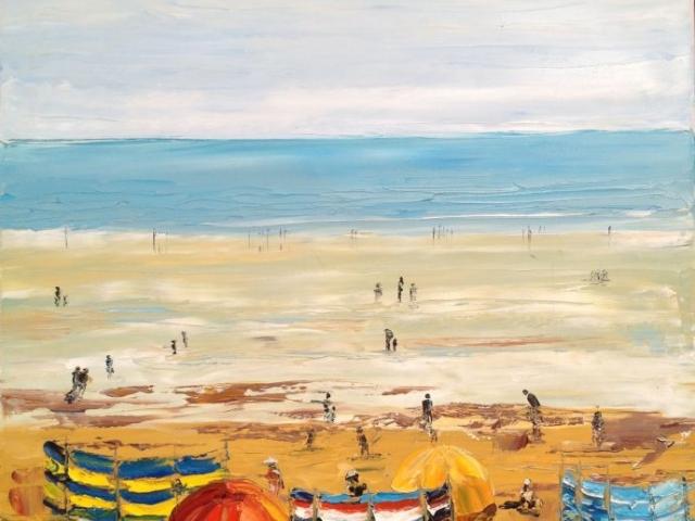 Benlech Beach - Oil on Canvas