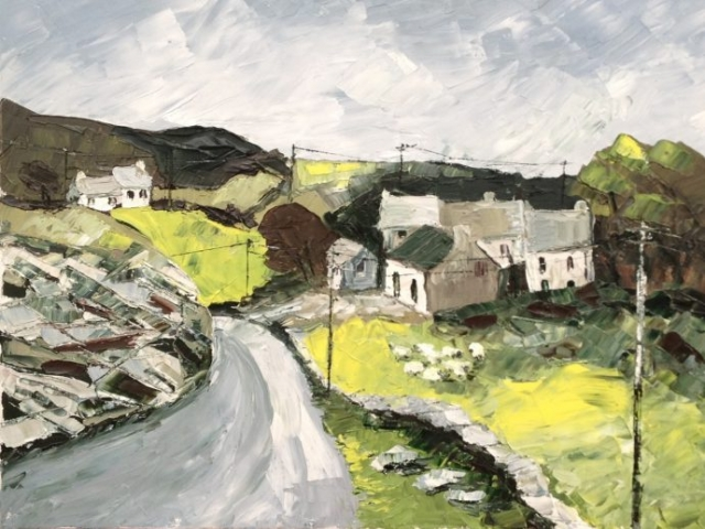 Road to Causeway - Oil on Canvas