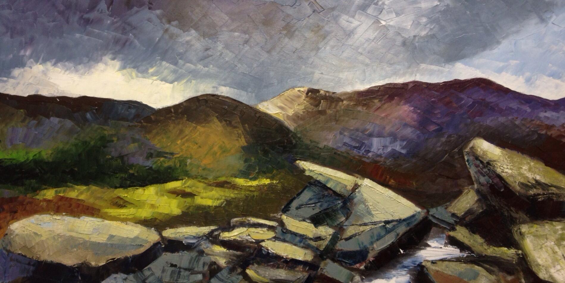 Snowdonia - oil on box canvas- £300