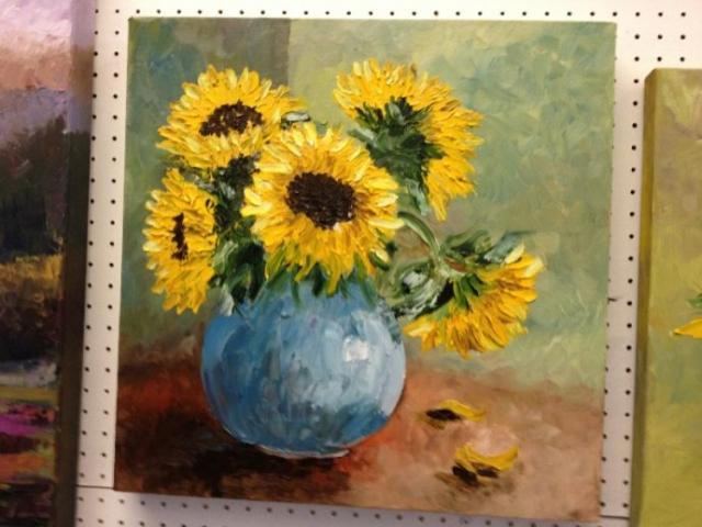 """Sunflowers"" - Oil on Canvas"